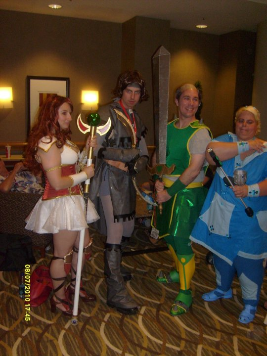 Cosplaying is far more fun in a group