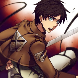 The protagonist Eren Yeager seeks to rid the world of the man-eating Titans