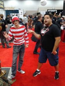 Finding Waldo is also a fairly common occurrence