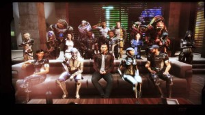 The cast of Mass Effect. At the end of the day, they were like a second family.