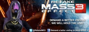 The Facebook page Demand a Better Ending for Mass Effect 3 would later evolve into the Retake Mass Effect 3 movement with members dubbing themselves 'Retakers'.