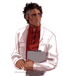 A fan-art representation of Carlos, the beautiful scientist.