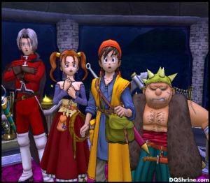 Left to right: Angelo, Jessica, Hero, Yangus