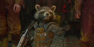 A drunk raccoon with a gun. Yes, it is as awesome as it sounds